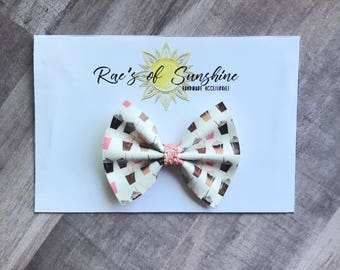 baby bows // iced coffee // frappucinno // baby headbands // nylon headbands // baby // toddler // bows // headband // coffee //