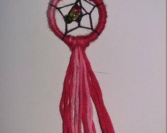 Dreamcatcher, red & pink