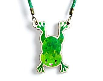 Kids Jewellery Necklace WOODEN ***FROGLET***