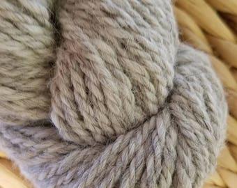 Light Silver Grey 3 ply Bulky Alpaca Yarn