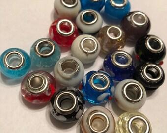 New Eye Catching Glass Beads 20 pcs