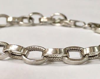 """5.4g solid 14K White Gold Bracelet 7 5/8"""""""