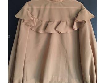 Vintage elizabethan collar blouse