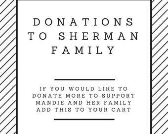 Donation to Sherman Family