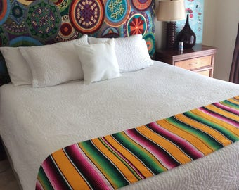 Mexican Serape bed scarf