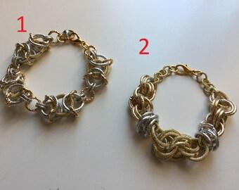 Aluminium Chainmail bracelet