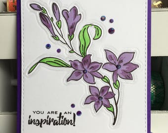 You are an Inspiration! Encouragement Greeting Card