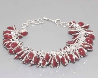 Silver and Garnet bracelet