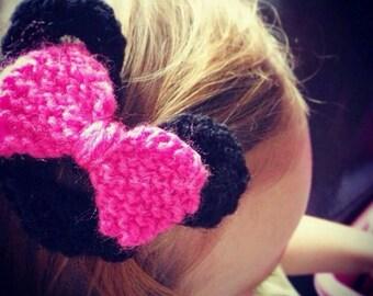 DISNEY Minnie mouse crochet hair clips