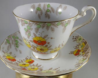RADFORDS FENTON ROYAL Bone China Tea Cup and Saucer
