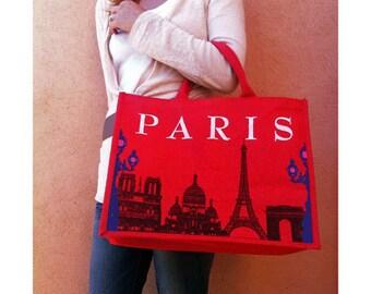 Paris Grocery Bag - Tote Bag