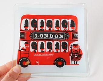 Vintage London Transport Double Decker Bus Dish