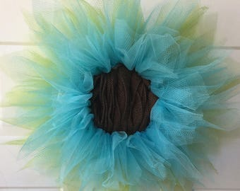 Tulle Flower Wreath
