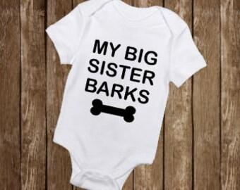 Big Sister Bodysuit, Dog Siblings