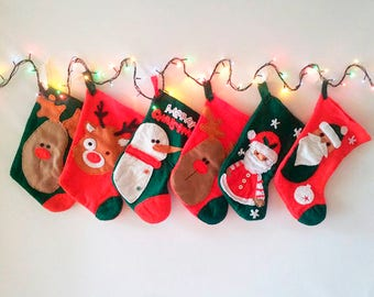 Stocking /  xmas eve / personalized gift /Xmas Stocking Personalized / home décor / Christmas gift / Family Christmas Stocking /wall decor