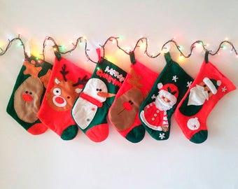 Stocking/ xmas eve/personalized gift/Xmas Stocking Personalized/homedécor / Christmasgift/Family Christmas Stocking/wall decor