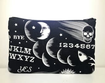 Ouija Cosmetic Bag | Zipper Pouch | Toiletry Bag | Pencil Case | Gifts for Her | Makeup Bag | Tarot Bag