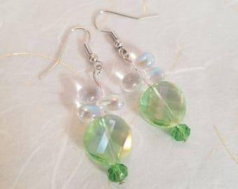 Spring Rain Crystal Drop Earrings