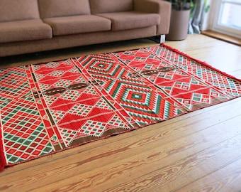 Carpet,Tapis,Teppich, 135x200 cm,4,5'x6,5' ,Area Rug oriental,Floor mat,Kelim,Kilim,Syria,Damaskunst 1-4-22