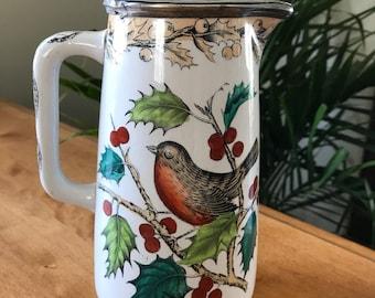Vintage Mid Century Chocolate Pot | Coffee/Tea Pot | Spring Decor | Robin decor | Vintage kitchen | Mid Century Kitchen