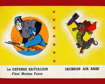 1943 Card-O Disney Air Squadron Insignia Trading Card