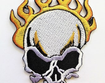 Ecusson Patch THERMOCOLLANT CRANE head death skull metal gothic biker hell fest New PVK 46