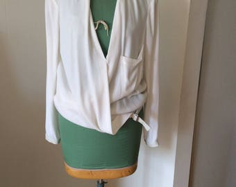 Helmut Lang White Top F/W '15 size Large