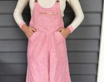 COURREGES PARIS c.1970's Pink Tweed Culottes
