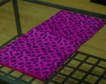 Authentic African Pink Leopard Print Fabric