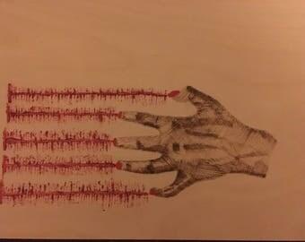 Pyrogaphy hand