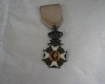 Military medal Belgian Knight of Leopold silver