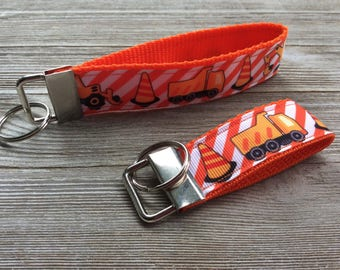Orange Construction Key Fob - Wristlet & Mini
