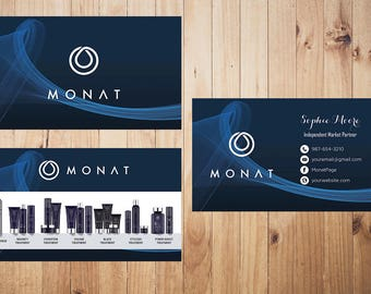 PERSONALIZED Monat Business Card, Custom Monat Business Card, Fast Free Personalization, Custom Monat Hair Care Card MN16