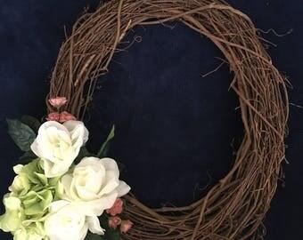 Handmade Spring Wreath - Indoor or Outdoor