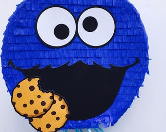 Birthday Celebration Cookie Monster Pinata (Sesame Street). Birthday celebration piñata of Cookie Monster (Sesame Street)