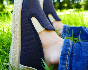 Espadrilles slippers in blue