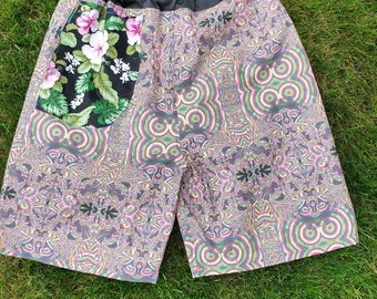 Hand made shorts.  Custom print design 1/1