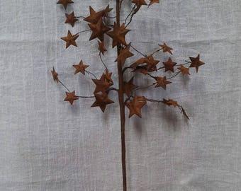 "20"" Rusty Star Pick Cluster Primitive Country Rustic Home Decor Decorative Wreath"