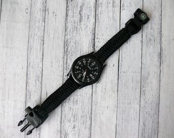 Paracord Watch Mens watch Survival Watch Paracord Watches Bracelet Watches Band Mens  Jewelry Everyday Watches Wrist Watches Handmade Custom
