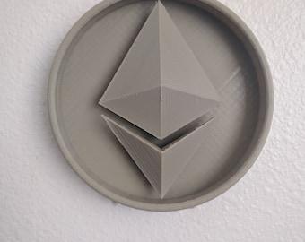 """3D Printed ETH Coin 6"""""""