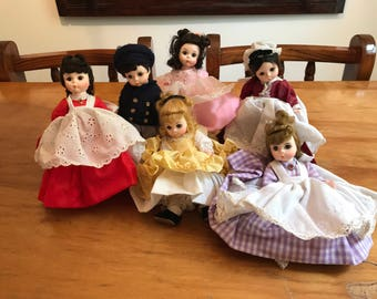 Vintage Madame Alexander Collectible Dolls - LITTLE WOMEN characters