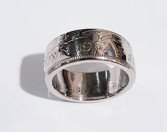 1962 Half crown coin ring