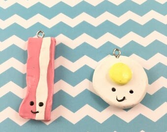 Bacon and Egg BFF charms