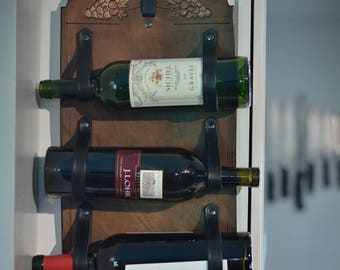 Handmade Leather Wine Rack