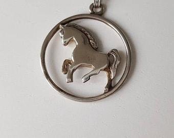 Shetland Pony Horse Sterling Silver Pendant
