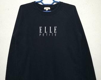 Vintage ELLE Petite Big Logo Sweater Sweatshirt