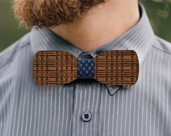 Olympus wooden bow tie
