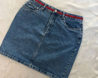 90S TOMMY HILFIGER jean mini skirt