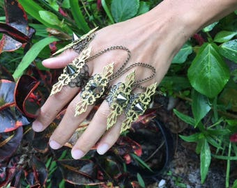 Regal Bronze Gold finger claws - full hand pieces - claw rings