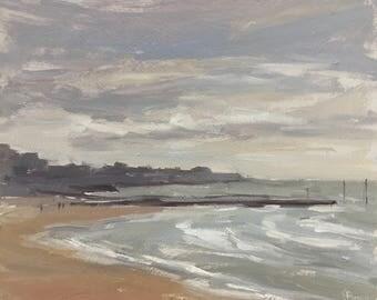 Seascape Original Oil Painting Framed, Margate